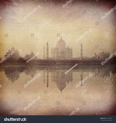 Hipster Fashion, Vintage Photos, Taj Mahal, Reflection, Retro Vintage, Places To Go, Sunrise, River, Stock Photos