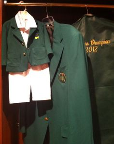 Bubba Watson and son's Masters jackets this is so cool.  Picture speaks a thousand words. Love.