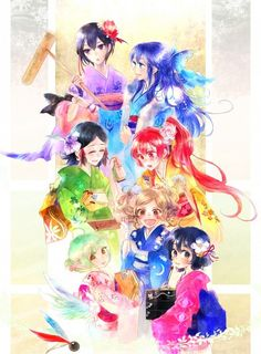 Fire Emblem: Awakening Girls fan art - Cynthia, Dezel, Lucina, Nn, Noire, Liz, Selena