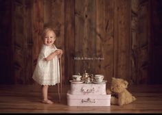 Baby photography session with Milk and Honey Photography.