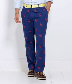 If only these were shorts I'd claw them up :)  .. VineyardVines Lobster Embroidered Club Pants