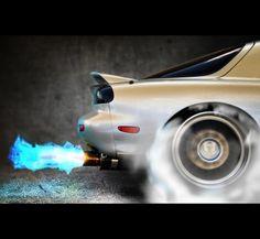 1995 Mazda RX-7 R2 burnout, so so beautiful