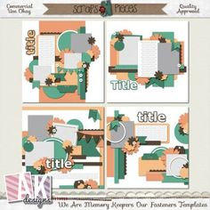 We Are Memory Keepers: Our Fasteners Templates [AKD_WAMKOFA] - $3.50 : Scraps N Pieces Store