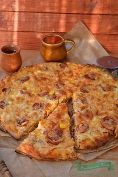 Pizza fara blat Skinny Recipes, My Recipes, Cooking Recipes, Healthy Recipes, Skinny Meals, Pizza, Romanian Food, Romanian Recipes, Dessert Drinks