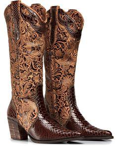 71313ba8a Bota Texana Anaconda Country Feminina Capelli Boots Ref 3104 - R  299