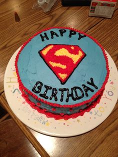 Superman Birthday Cake!