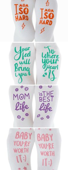 Kindred Bravely Non-skid Brave Socks. These inspirational socks would make a great gift for someone who is in the hospital, a new mom, a pregnant mom, the options are endless! Snag up your favorite phrase today!