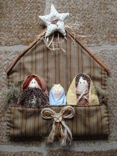 Pesebre Fabric Christmas Ornaments, Christmas Sewing, Christmas Nativity, Felt Ornaments, Felt Christmas, Homemade Christmas, Rustic Christmas, Christmas Decorations, Christmas Time
