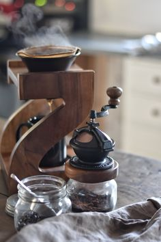 Zero waste coffee options, the Camano Coffee Mill, Coffeesock Fiters and the Pour Over Coffee Method