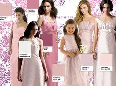 Dessy pink ombre bridesmaids ideas