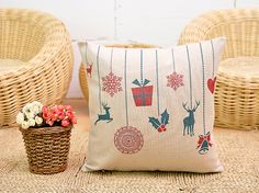 via en.dawanda.com Cushion Covers – Christmas Pillow Cover, Cushion Covers – a unique product by DIYtime on DaWanda
