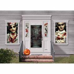 Take the madness out of party planning with Asylum Halloween Party Supplies! Asylum Halloween Party Supplies feature a deadly hospital motif on decorations plus coordinating tableware. Party Wall Decorations, Halloween Door Decorations, Halloween Party Decor, Insane Asylum Halloween, Haunted Halloween, Costume Halloween, Spirit Halloween, Halloween Ideas, Halloween 2014