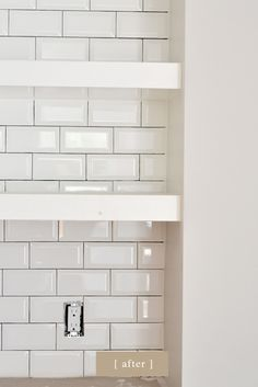 beveled subway tiles Pewter grout Main bathroom shower tile