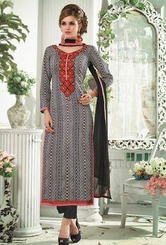 Black Designer Casual Wear Suit - Desi Royale