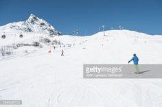 A ski slope or piste in the Silvapark near Galtur, Austria.The... #galtur: A ski slope or piste in the Silvapark near Galtur,… #galtur