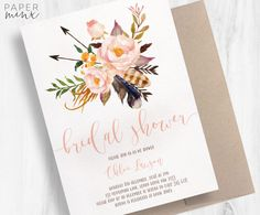 P R I N T E D • I N V I T A T I O N S Can be customised for any event!  Editable template available here: Coming Soon!  Each set includes: 1 x Invitation (US A7 - 5 x 7) 1 x Matching Envelope (5.25 x 7.25)  OR  1 x Invitation (US A2 - 4.25 x 5.5) 1 x Matching Envelope (4.5 x 5.75)  (Envelope liners not included - these can be purchased for an additional $1 each. Please contact us for this)  • • • • • • • • • • • • • • • • • • • • • • • • • • • • • • • • • • • • • • • • • • • • • • • • • • •…
