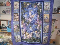 Fairy Quilt Large Purple Quilt Block.  What a great looking quilt.  Would be a great one for the little princess in your life.  Peace, Robert from nancysfabrics.com