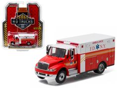 2013 International Durastar Fire Department of New York (FDNY) Ambulance (The Official Fire Department of New York) HD Trucks Series 7 1/64 Diecast Model Car by Greenlight