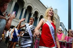 2014 Miss America Contestants Arrive, Miss South Carolina Brooke Mosteller and Miss Rhode Island Jessica Marfeo