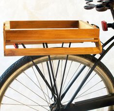 DIY bicycle crate on rear bike rack by RidingPretty by RidingPretty. Thinking of doing this with the heaps of barnwood stored in the shed...