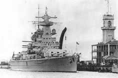 Admiral Scheer in Gibraltar 1936
