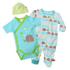 Amazon.com: Zutano Unisex-Baby Elephants Footie, Short Sleeve Wrap And Hat Set: Baby anything made by zutano, vermont company and its stuff is amazing!