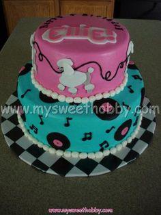 50s theme cake