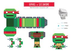 Blog Paper Toy papertoy Raphael template preview Mini papertoy Raphael de Gus Santome Origami Marvel, Master Of Puppets, Diy And Crafts, Paper Crafts, Origami Paper Art, Craft Activities For Kids, Paper Models, Paper Toys, Diy Gifts
