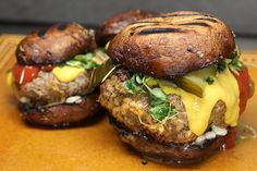 Guilt Free Portobello Bun Burgers | Ruled Me