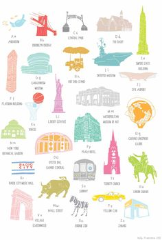 A to Z of New York Combination of buildings, landmarks and tourist destinations