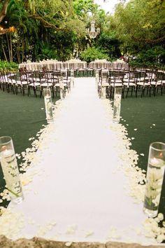wedding ceremony idea; Marlon Richardson via Style Me Pretty