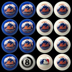 New York Mets Home vs Away Billiards/Pool Table Ball Set
