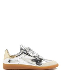 Isabel Marant Beth pinked-edge low-top leather trainers