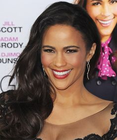 Paula Patton Hairstyle - Formal Long Wavy. Click on image to try on this hairstyle and view styling steps!