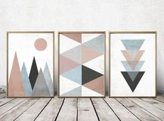 Abstract Wall Art - Abstract Art Prints - Geometric Art - Abstract Wall Art - Abstract Art Print - Nordic Art - Triangle Art   PRINTING OPTIONS  My prints are carefully printed by myself using the best print technologies available today. UltraChrome Digigraphie-certified pigment inks provide unprecedented color ranges with exceptional no-fade properties. All of my fine art prints are done on archival-quality paper with a 100 year warranty against fading indoors.  PAPER I use Ilford smooth…