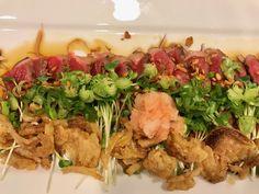 Beef tataki with home made ponzu sauce