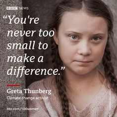 💯 inspiring and influential women from around the world - this is 2019 🙌 From climate change activist to… Motivation Success, Success Quotes, We Are Strong, Bbc News, Good Advice, Climate Change, Around The Worlds, Wisdom, Words