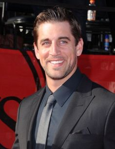 Aaron Rodgers. So beautiful he could be a movie star, but instead he's just a Super Bowl-winning quarterback.