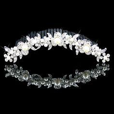 Gorgeous Alloy With Cubic Zirconia Wedding Tiara – USD $ 14.39