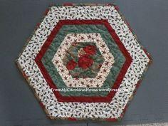 Christmas Hexagonal Table Topper 14 https://frommycarolinahome.wordpress.com/2014/12/01/christmas-hexagonal-table-topper/