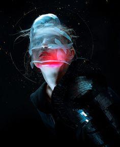 Inspiring Neon Editorial by Alexander Berdin-Lazursky – Cyberpunk Gallery Photoshop, Cyberpunk Kunst, Photographie Portrait Inspiration, Cyberpunk Aesthetic, Photo D Art, Futuristic Technology, Technology Gadgets, Technology Design, Tech Gadgets