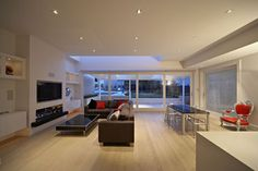 Contemporary Living Room Tv Above Fireplace Design, Pictures, Remodel, Decor and Ideas