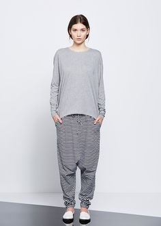 kowtow - 100% certified fair trade organic cotton clothing - Building Block Low Crotch Pant