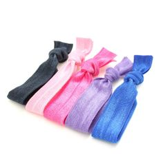 5 PK No Snag Elastic Hair Ties by GraceBennettBoutique on Etsy, $3.00