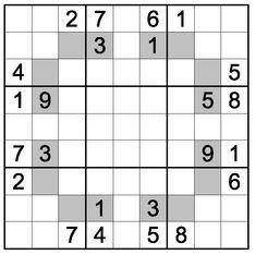 odd sudoku,grey cells contain odd digits