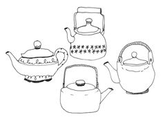 Tea Pots - A collection a day... great idea by Lisa Congdon