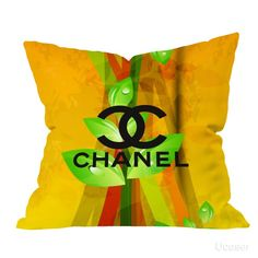 Chanel yellow Abstrac vector Pillow Cases