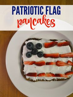 These Patriotic Flag Pancakes are the perfect way to start your 4th of July morning! The Ricotta Cinnamon Pancakes are a great breakfast for little tummys!