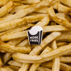 More Fries lapel pin. limited edition. sold out.