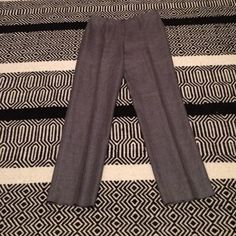 Authentic CHANEL Grey Linen/Cashmere Pant - 12 I seriously wish these fit me because they would be perfect for work. Authentic CHANEL gray pants in a europe size 42/US size 12. Beautiful little button on front and in excellent condition with minimal wear. Material: 50% linen, 50% cashmere. Lining: 100% silk. Serial number: P24872V15448.                                      Open to all REASONABLE offers on this item. CHANEL Pants